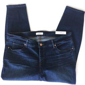 Loft Plus Dark Indigo Modern skinny jeans